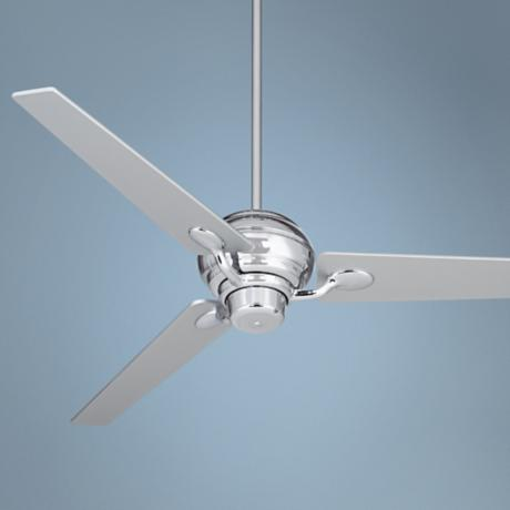 "60"" Spyder™ Silver Taper Blades and Chrome Ceiling Fan"