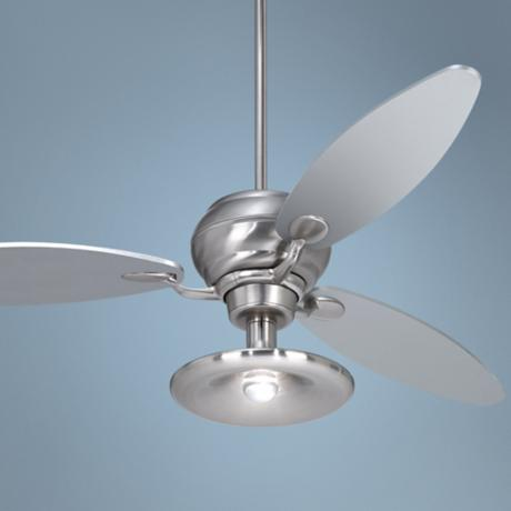 "60"" Spyder™ Brushed Steel Ceiling Fan with 1 Light Kit"