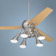 "60"" Spyder™ Steel Maple Blades 5-Light Ceiling Fan"