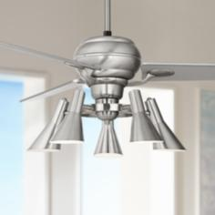"60"" Spyder™ Steel Silver Blades 5-Light Ceiling Fan"