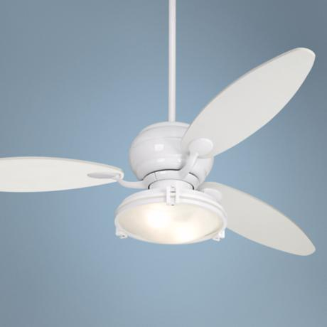 "60"" Casa Optima White Ceiling Fan with Light Kit"