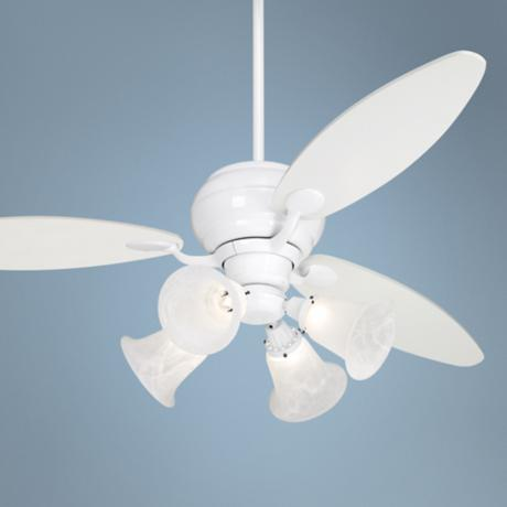 "60"" Casa Optima White Ceiling Fan with 4 Lights"