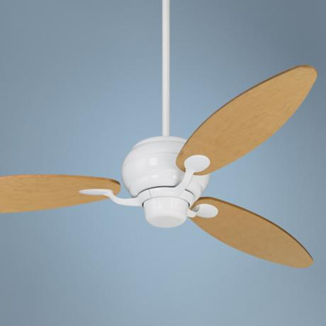 "60"" Spyder™ Maple Blades White Ceiling Fan"