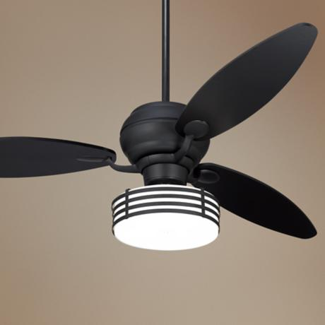 "60"" Spyder™ Matte Black Ceiling Fan with Light Kit"