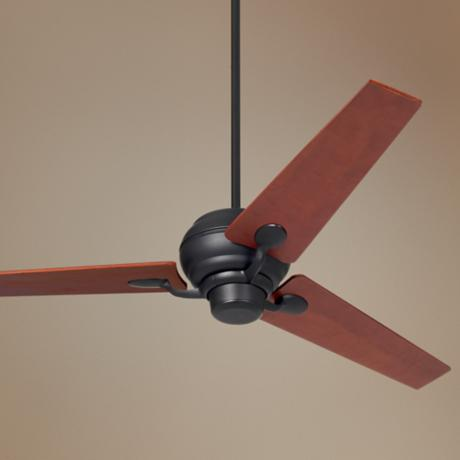 "60"" Spyder™ Matte Black Walnut Blades Ceiling Fan"