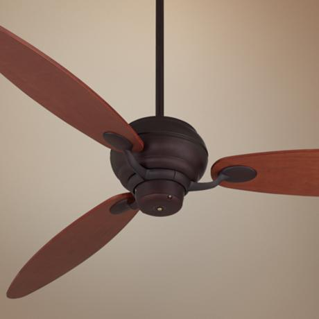 "66"" Spyder™ Espresso with Teak Blades Ceiling Fan"