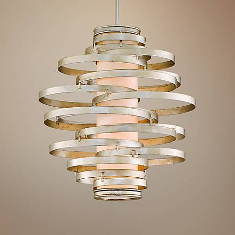 Corbett Vertigo Collection 2-Light Silver Pendant Chandelier