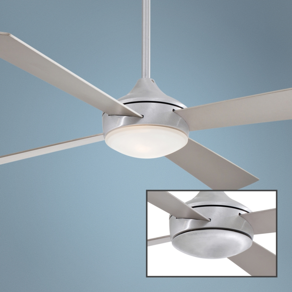 "52"" Minka Aire Aluma Brushed Aluminum Ceiling Fan   #R2648"