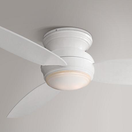 "44"" Minka Aire Concept White Outdoor Ceiling Fan"