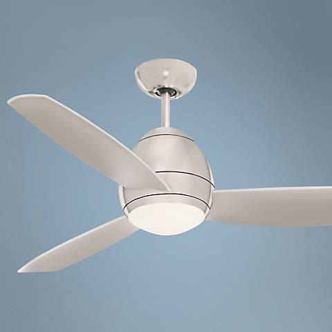 "52"" Emerson Curva Brushed Steel Ceiling Fan"
