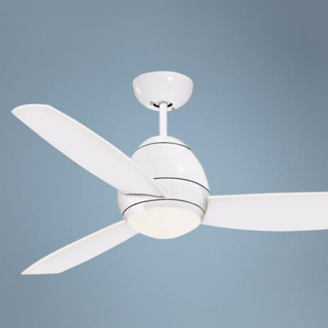 "52"" Emerson Curva White Ceiling Fan"