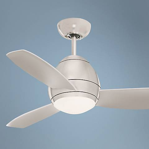 "44"" Emerson Curva Brushed Steel Ceiling Fan"