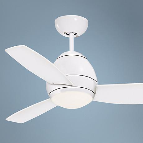 "44"" Emerson Curva White Ceiling Fan"