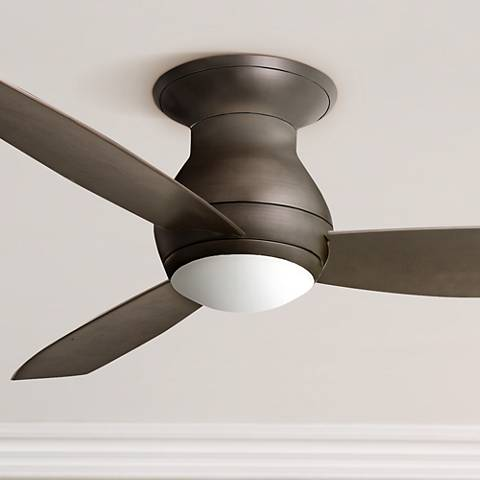 "52"" Emerson Curva Sky Bronze Hugger Ceiling Fan"