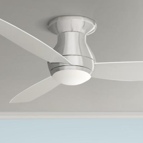 "52"" Emerson Curva Sky Brushed Steel Hugger Ceiling Fan"