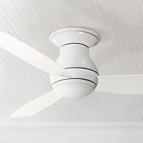 "52"" Emerson Curva Sky White Hugger Ceiling Fan"