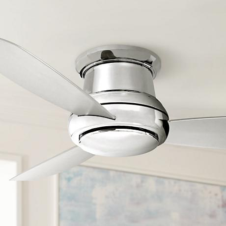 "44"" Minka Aire Concept II Polished Nickel Hugger Ceiling Fan"