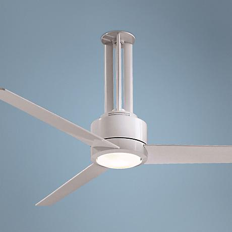 "56"" Minka Aire Flyte White Ceiling Fan"