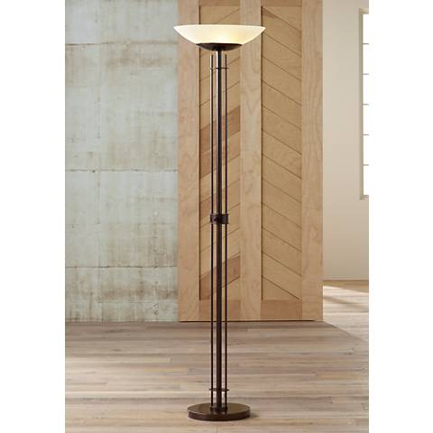 Possini Euro Design Linear Light Blaster® Torchiere Lamp