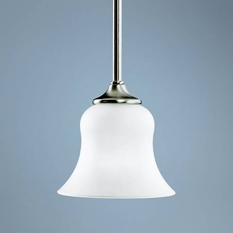 "Kichler Wedgeport Collection 6 1/2"" Wide Nickel Mini Pendant"