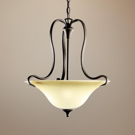 Kichler Wedgeport Bronze Inverted Pendant Chandelier