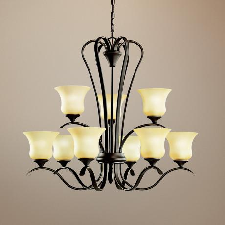 Kichler Wedgeport Bronze Finish 9-Light Chandelier