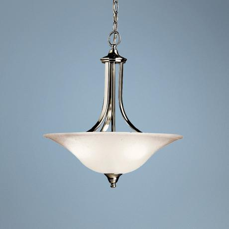 New Street Brushed Nickel Uplight Pendant Chandelier