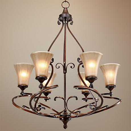 "Loretto Collection Russet Bronze 30"" Wide Chandelier"