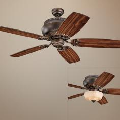 "52"" Monte Carlo Albany Roman Bronze Ceiling Fan with Light"
