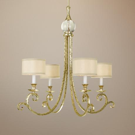 Candice Olson Lucy Gold 4-Light Chandelier