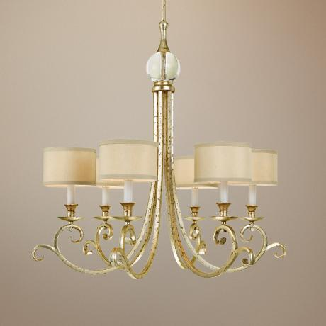 Candice Olson Lucy Gold 6-Light Chandelier
