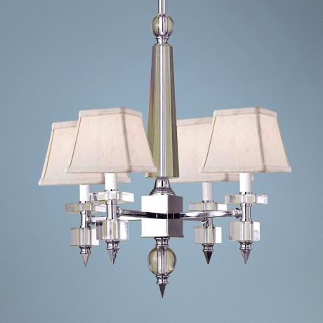 Candice Olson Cluny Beige Shade 4-Light Chandelier