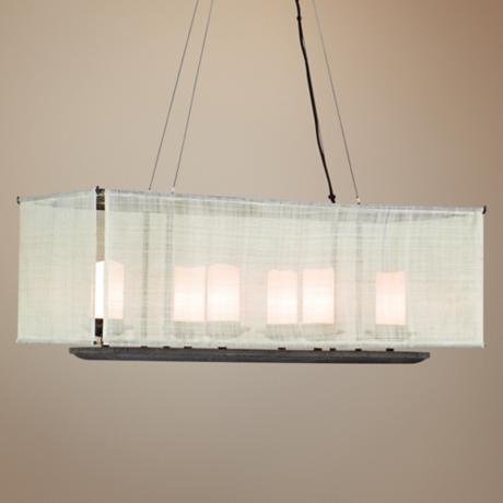 "Raffia Collection 30"" Wide Island Chandelier"