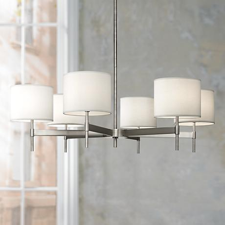 Echo 6-Light Stainless Steel Chandelier