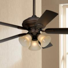 Bronze Traditional Ceiling Fan With Light Kit Ceiling Fans By Lampsplus Com