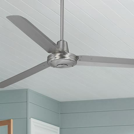 "60"" Turbina™ Brushed Steel Ceiling Fan"
