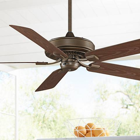 "60"" Fanimation Edgewood™ Aged Bronze Wet Ceiling Fan"