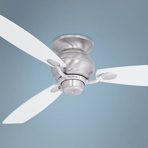 "60"" Spyder White Square Tip - Steel Hugger Ceiling Fan"
