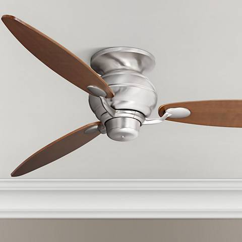 "60"" Spyder™ Brushed Steel Walnut Hugger Ceiling Fan"