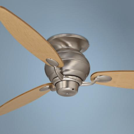 "60"" Spyder™ Brushed Steel Maple Hugger Ceiling Fan"