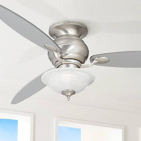 "60"" Spyder ™ Hugger White Glass Ceiling Fan"