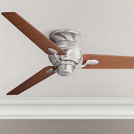 "60"" Spyder™ Steel Walnut Tapered Blades Hugger Fan"