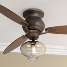 "60"" Casa Spyder™ Amber Glass - Bronze Ceiling Fan"