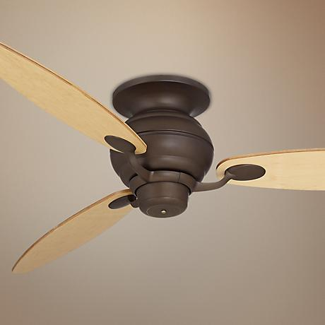 "60"" Spyder Bronze Light Maple Blades Hugger Ceiling Fan"