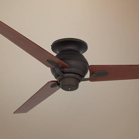 "60"" Spyder Bronze Walnut Tapered Blades Hugger Ceiling Fan"