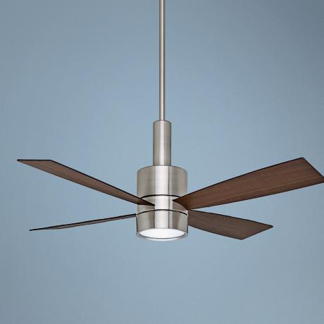 "54"" Casablanca Bullet Brushed Nickel Ceiling Fan"