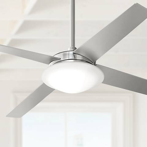 "52"" Casa Vieja® Exclaim Brushed Nickel Ceiling Fan"