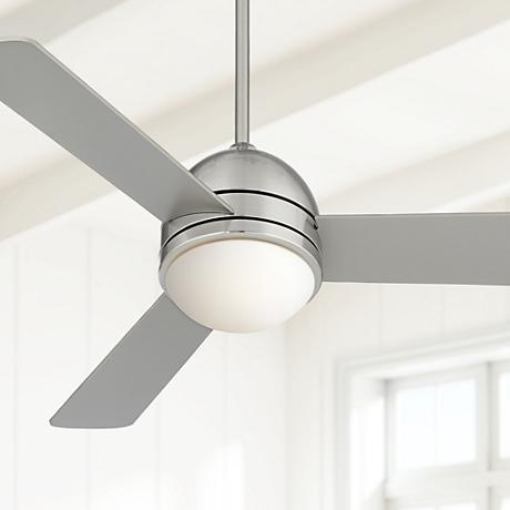 "44"" Casa Vieja® Trifecta Brushed Nickel Ceiling Fan"