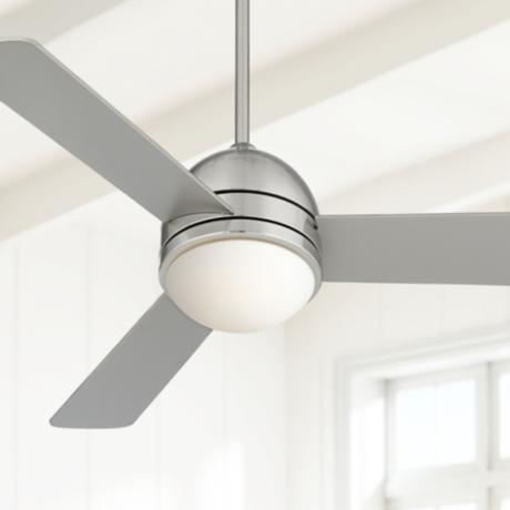 "44"" Casa Vieja Trifecta Brushed Nickel Ceiling Fan"