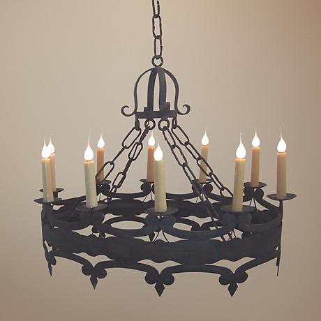 Laura Lee Oval 10-Light Large Candle Chandelier